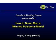 How to Bump Map a Skinned Polygonal Model - NVIDIA Developer ...