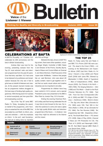 Autumn 2009 Bulletin - Voice of the Listener and Viewer