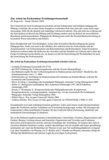 Erziehungswissenschaften - Zfsl-rheine.nrw.de