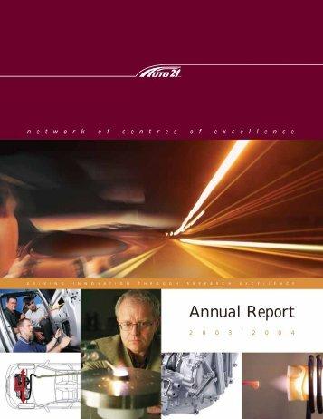 Annual Report - AUTO21