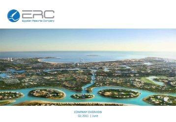 COMPANY OVERVIEW Q1 2011 | June - ERC Egypt