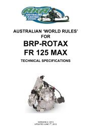 Rotax Senior Max - Australian Karting Association