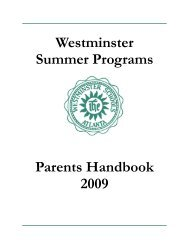 Sports Camp - The Westminster Schools