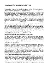 Rosa& Karl 2013: Gedenken in der Krise - Falken Berlin