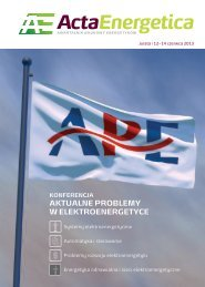 Energetyka odnawialna i sieci elektroenergetyczne - Acta Energetica