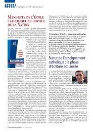 Actualités - ECA - Enseignement catholique actualites