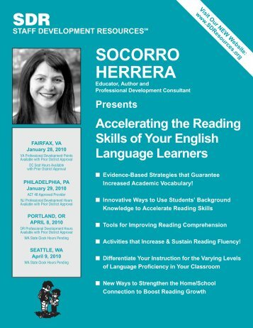 SOCORRO HERRERA SDR - Staff Development Resources