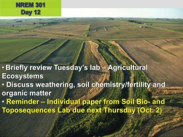 Weathering in Soil - Natural Resource Ecology and Management
