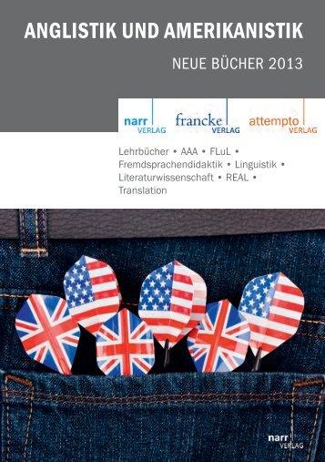 ANGLISTIK UND AMERIKANISTIK - Gunter Narr Verlag/A. Francke ...