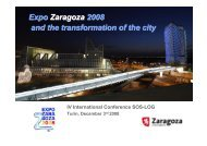 Expo Zaragoza 2008 and the transformation of the ... - SOS - Logistica