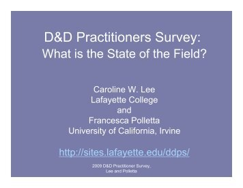 Results2009 - Sites at Lafayette - Lafayette College