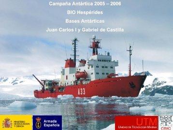 Proyectos en Bases Antárticas - Unidad de Tecnología Marina ...
