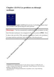 Chapitre 1.D.19.4 Les prothèses en chirurgie cardiaque