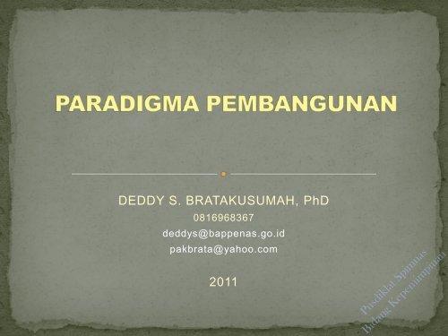 perkembangan paradigma pembangunan indonesia - Pusdiklat ...