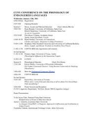 cuny conference on the phonology of endangered languages