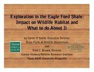 Exploration in the Eagle Ford Shale - Caesar Kleberg Wildlife ...