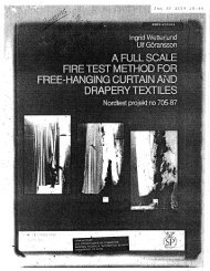 A Full Scale Fire Test Method for Free-Hanging Curtain and