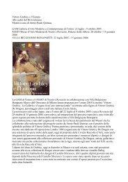 Presentazione - Galleria d'Arte moderna di Milano