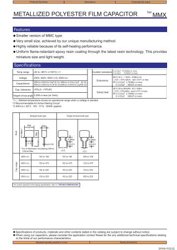 Characteristics Of The Metallized Polyester Film Capacitor
