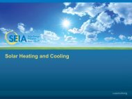 Solar Thermal: - SEIA