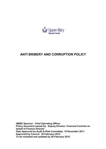anti corruption policy template dzeotk