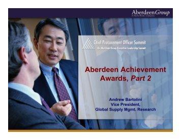 Aberdeen Achievement Awards, Part 2 - Summit
