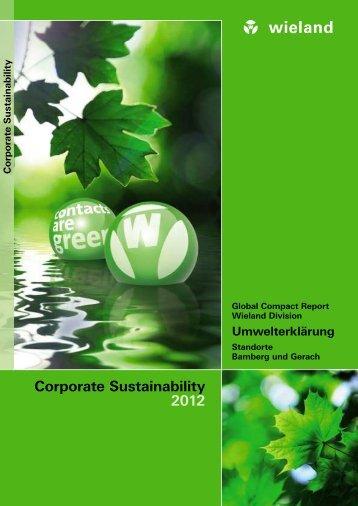 Umwelterklärung - Wieland Electric