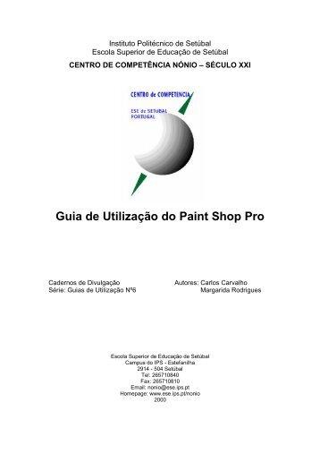Guia de Utilização do Paint Shop Pro - ESE de Setúbal - Instituto ...