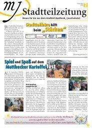 Neues für Sie aus dem Stadtteil Mattheck / Josefsviertel