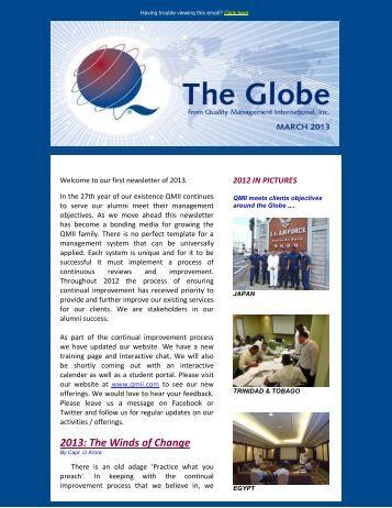 The Globe - March 2013 - QMII.com