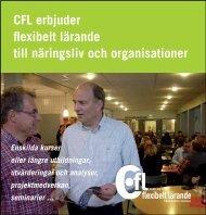 Lärande för näringsliv och organisationer - CFL