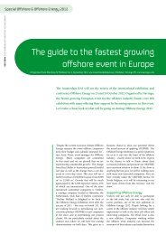 The guide to the fastest growing offshore event in Europe