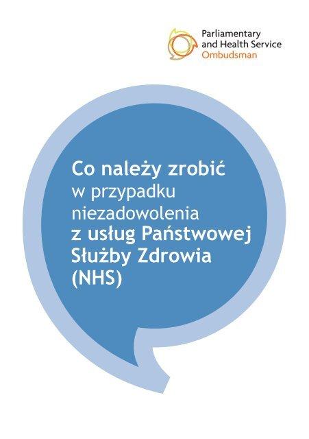 Pobierz broszurę - the Parliamentary and Health Service Ombudsman
