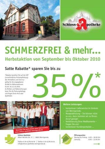 SCHMERZFREI & mehr… - Schloss Apotheke
