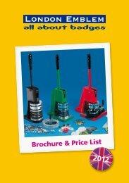 All About Badges Brochure & Price List 2012 - London Emblem