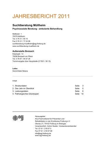 Jahresbericht SB-Müllheim - Suchtberatung Müllheim