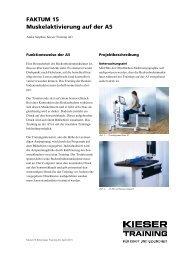 FAKTUM 15 Muskelaktivierung auf der A5 - Kieser Training