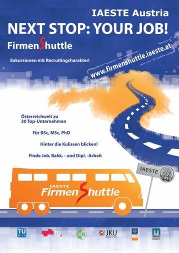 IAESTE FirmenShuttle 2012 - TU Career Center