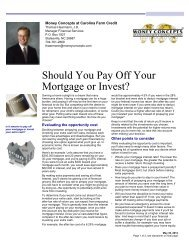 Should You Pay Off Your Mortgage or Invest? - Carolina Farm Credit