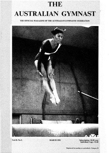 March - Gymnastics Australia