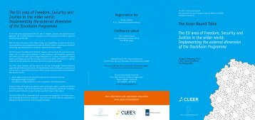 Programme - Asser Institute