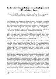 Kultura i civilizacija Indije u hrvatskoj književnosti od 13. stoljeća do ...