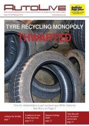 TYRE RECYCLING MONOPOLY - Autolive.co.za