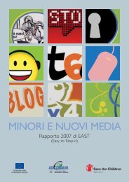 MINORI E NUOVI MEDIA - Save the Children Italia Onlus