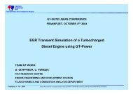 EGR Transient Simulation of a Turbocharged Diesel Engine using ...