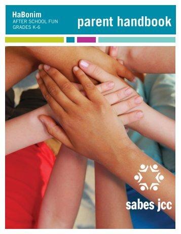 HaBonim parent handbook - Sabes Jewish Community Center