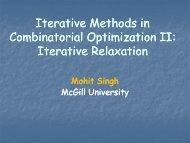 Combinatorial Optimization II: - LNMB