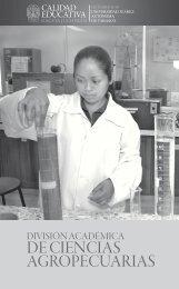 División Académica de Ciencias Agropecuarias - Publicaciones