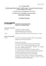 Das Programm - Lehrstuhl für Landschaftsarchitektur