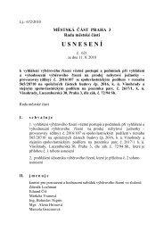 Usnesení RMČ č. 621 ze dne 11.8.2010 - Praha 3
